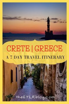 Giving you a taste of the 4 main cities in Crete, this One Week Crete Travel Itinerary and Travel Guide, highlights the Best things to do in Crete, Greece. Crete Greece, Santorini Greece, Athens Greece, Europe Travel Tips, Places To Travel, Travel Destinations, Travel Guide, Travel Ideas, Greece Islands