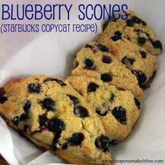 Blueberry Scone Recipe (Starbucks Copycat Recipe)
