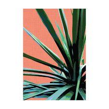 Terracotta Palms #3 Modern Printed Wall Art