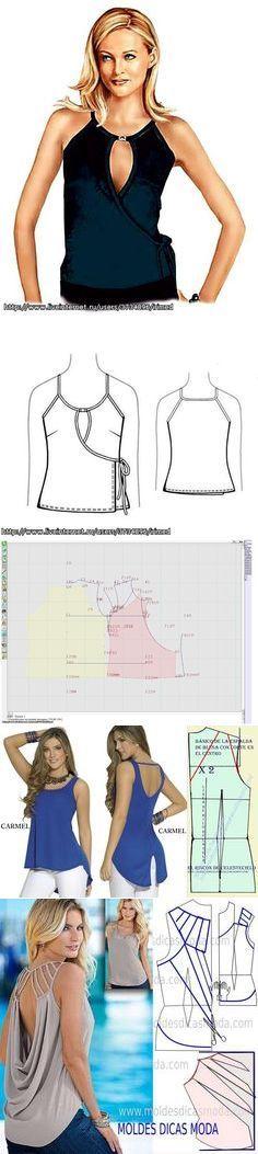 Ideas to sew blouses...♥ Deniz ♥