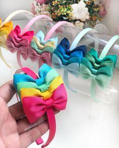 Ribbon Hair Bows, Diy Hair Bows, Homemade Bows, Hair Bow Tutorial, Making Hair Bows, Diy Headband, Hair Images, Ribbon Crafts, Diy Crafts