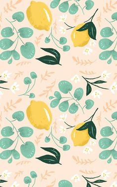 lemon & greenery pattern by pam