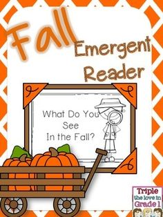 Free fall themed emergent reader is perfect for whole class or small groups. Repetitive text, color words, and picture cues will assist new readers. The last page asks students to write and draw about what they see in the fall!Enjoy!****************************************************Customer Tips: How to get TPT credit to use on future purchases: Please go to your My Purchases page (you may need to login).