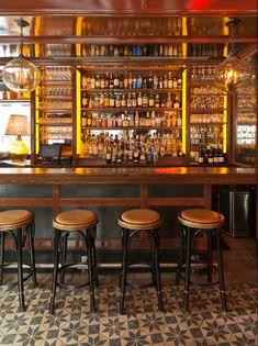 Stephen Gambrel's first restaurant design.. Cole's NYC – Greige Design