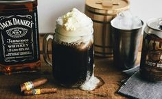 How to make an old time root beer float with Jack Daniel's.  In a mug, pour 1-2 shots of Jack Daniel's Tennessee Whiskey. Add in root beer and stir for a few seconds. Top off with Vanilla Ice Cream, and serve.
