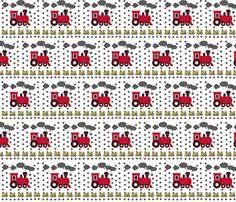 Choo Choo Red - Medium  fabric by drapestudio on Spoonflower - custom fabric
