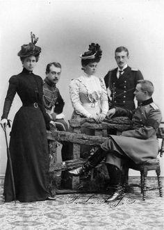 Princess Beatrice of Saxe-Coburg and Gotha, Grand Duke Boris, Grand Duchess Helena, Grand Duke Krill and Grand Duke Andre