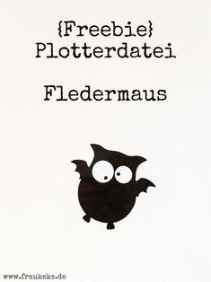 Freebie Plotterdatei – Fledermaus