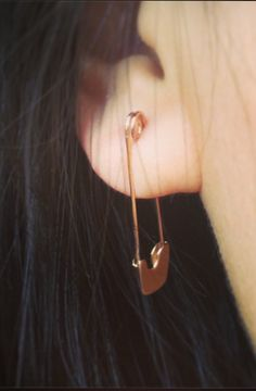 Gillian Conroy 14k Single Safety Pin Earring