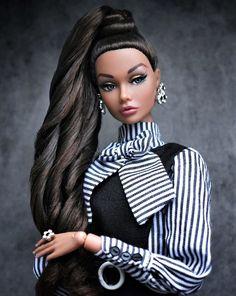 Poppy Parker by cutieerica - Mandeep Madden Dolls Beautiful Barbie Dolls, Vintage Barbie Dolls, Pretty Dolls, Original Barbie Doll, Elegant Ponytail, Barbie Model, Diva Dolls, African American Dolls, Poppy Parker