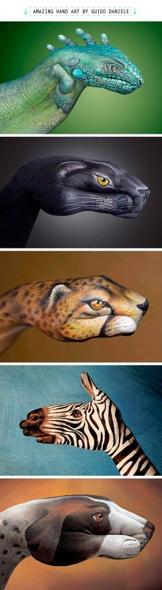 This Hand Art is quite creative, but I'll stick with my animal print Pandora beads to express my wild side!