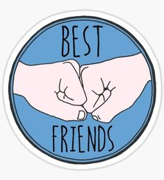 Cute stickers featuring millions of original designs created by independent artists. Best Friends Cartoon, Best Freinds, Friend Cartoon, Real Friends, Tumblr Stickers, Phone Stickers, Cool Stickers, Tumblr Bff, Friend Tumblr