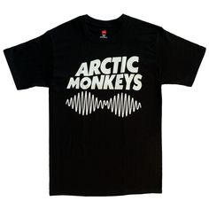 RTGraphics Men's Arctic Monkeys II Waves T-Shirt Medium Black