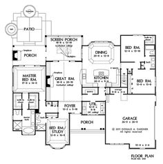 images about Floor Plans on Pinterest   House plans  Floor    The Spotswood House Plans First Floor Plan   House Plans by Designs Direct  Office and