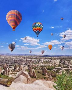 Beautiful Places, Amazing Places, Before I Die, Cappadocia, Vsco, Galaxy Wallpaper, Hot Air Balloon, The Good Place, Balloons