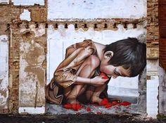 Street art by Man O Matic in Huelva, Spain