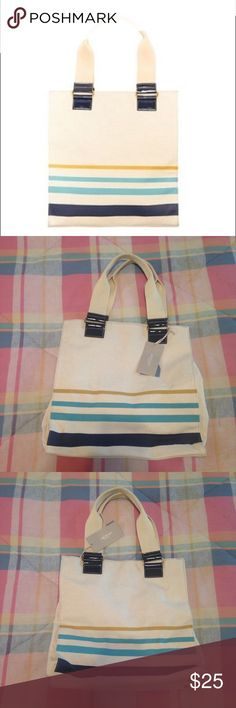 Jason Wu for Target Blue/Yellow Stripe Canvas Tote Fun canvas tote by Jason Wu for Target! New with tags. Great capacity and sturdy shoulder straps. Features interior zip pocket and two slide pockets. Measures 14.5 inches tall, 13.5 inches wide, depth of 4 inches, strap drop of 8.5 inches. Ask questions and make an offer! 💙💛 Jason Wu Bags Totes