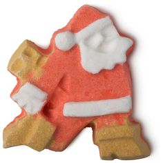 Dashing Santa bomb. Make a dash for this moving Santa bath bomb with a cheerful and uplifting scent of satsumas at Christmas. Watch Santa fly about your bath as his golden boots fizz away, releasing toning mandarin oil, bergamot oil and orange flower absolute that help put a spring in your step, too