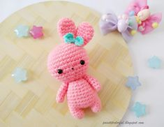 Amigurumi bunny free pattern (A little love everyday! Easter Crochet Patterns, Crochet Bunny, Crochet Patterns Amigurumi, Amigurumi Doll, Crochet Toys, Free Crochet, Yarn Colors, Yarn Crafts, Minion