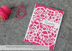 Sarah-Jane Rae cardsandacuppa: Stampin' Up! UK Order Online 24/7: Quick and Easy Card Using Detailed Floral Thinlits Dies by Stampin' Up!
