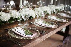 Wedding guest table decor in Kukua Punta Cana, Dominican Republic  Photo by Karina Jensen Photography