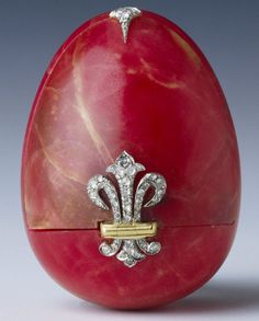 Faberge rhodonite, gold and rose diamond egg box... - Long Live Royalty
