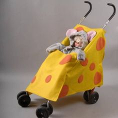 Halloween costume ideas for babies in carseats, strollers, or other things with wheels - Rookie Moms Stroller Halloween Costumes, Stroller Costume, Mouse Costume, Cute Halloween Costumes, Cool Costumes, Halloween Party, Costume Ideas, Halloween 2020, Halloween Stuff