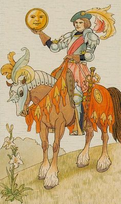 Knight of Coins - Harmonious Tarot by Walter Crane, Ernest Fitzpatrick