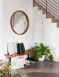 The Light Milwaukee Home of Jenni Radosevich (Gravity Home) Milwaukee Home, Grey Hardwood Floors, Modern Foyer, Small Foyers, Gravity Home, Lowes Home, Foyer Decorating, Modern House Design, Entryway Decor