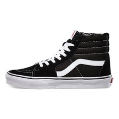 The Sk8-Hi, Vans legendary lace-up high top inspired by the classic Old Skool, has a durable canvas and suede upper, a supportive and padded ankle, and Vans vulcanized signature Waffle Outsole.