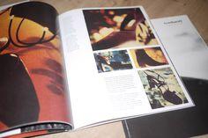 Mise en page du catalogue prêt à porter et accessoires Cacharel par l'Atelier Vauban graphiste à Nimes.