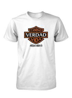 Aprobado por Jesus - Camino Verdad y Vida Juan 14:6 Camiseta Cristiana, $16.00 (http://www.aprojes.com/camino-verdad-y-vida-juan-14-6-camiseta-cristiana/)