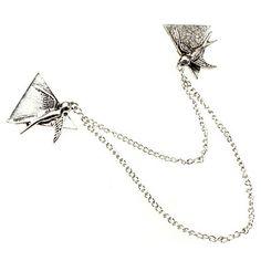 The Swallow Threesome Collar Clip – DKK kr. 32