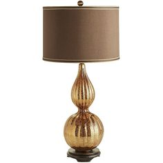Pier 1 Imports Gold Katrina Table Lamp ($84) ❤ liked on Polyvore featuring home, lighting, table lamps, gold, gold lamp, colored lamps, gold shade, colored light and colored lights