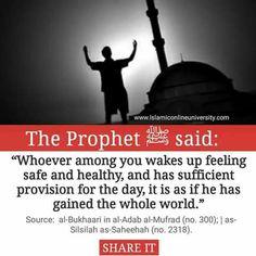 Gained whole World -Hadith Mubarika 01 Prophet Muhammad Quotes, Imam Ali Quotes, Hadith Quotes, Muslim Quotes, Quran Quotes, Religious Quotes, Allah Islam, Islam Quran, Islamic Inspirational Quotes