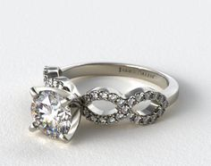 #3 James Allen $875 18K White Gold Pave Infinity Diamond Engagement Ring | 17972W - Mobile