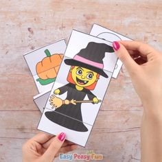 Surprise Halloween Cards Craft With Printable Templates This is a simple Halloween craft for kids that can be easily done in the classroom with a larger group too. Fröhliches Halloween, Halloween Arts And Crafts, Halloween Crafts For Toddlers, Halloween Party Games, Halloween Activities, Diy Halloween Decorations, Halloween Cards, Diy Crafts For Kids, Fun Crafts