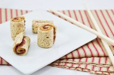 cute idea for kid food-PB&J; sushi!