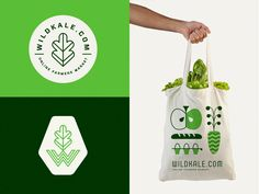 Some branding elements I made some time ago for an online farmers market.
