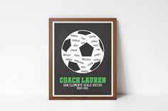 Printable Quotes, Printable Wall Art, Team Word, Coach Appreciation Gifts, Choose Quotes, Custom Basketball, Soccer Coaching, Retirement Gifts, Wall Art Quotes