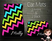 Custom Personalized & Monogrammed Car Mats, Choose Your Colors