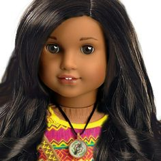 So far there is no dark skinned Josefina face mold doll but this would be beautiful.  Photoshop idea for customized American Girl Lea Clark doll edited by DollhouseDesigns