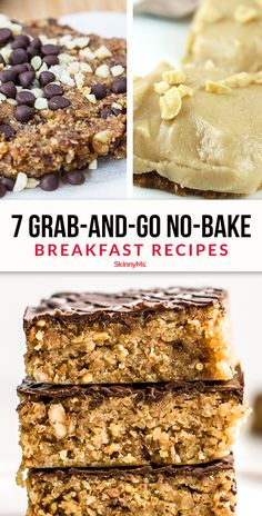 Mornings are hectic. Before you reach for a packaged snack bar, make these 7 Grab-and-Go No-Bake Breakfast Recipes instead!