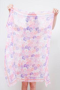 floral scarf // Leah Goren