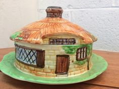 Vintage Beswick Cottage Ware Round Butter/Cheese Dish