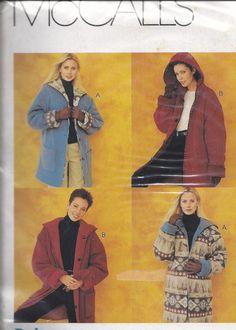 McCalls 273 Reversible Fleece Jacket With by DawnsDesignBoutique, $4.75