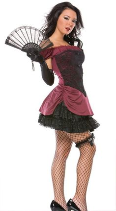 this sexy burlesque costume is flirty and flattering    #Sexy #Burlesque #Cancan #Costume