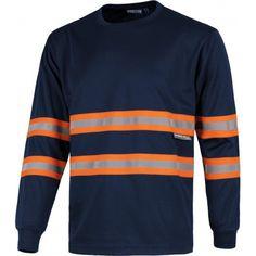 Camiseta de manga larga. Cuello redondo. Referencia  C3937 Marca:  WorkTeam  Camiseta de manga larga. Cuello redondo. Cintas reflectantes combinadas en pecho, espalda y mangas.