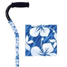 Blue Hawaii Fabric Cane Cover