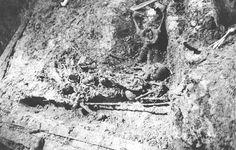 """The actual photograph of the Romanov grave in 1991. """"AL"""""""